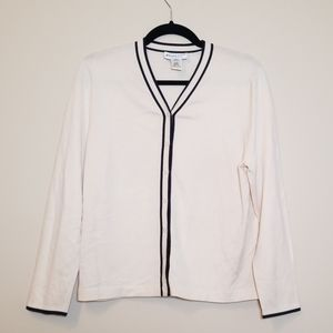 Pendleton Ivory Silk Blend Cardigan Sweater MP